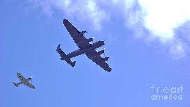 Spitfire  Lancaster Bomber by John Williams