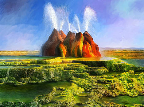 Angela A Stanton - Spitting Fly Geyser in Nevada