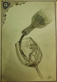 Splashing Wine by Usama  Ejaz