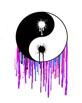 Splashing Ying Yang by Manik Designs