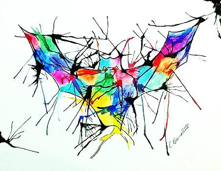 Splatter Bat by Christy Bruna