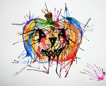 Splatter Pumpkin by Christy Bruna