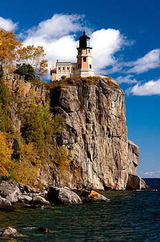 Split Rock Lighthouse in Autumn by Lonnie Paulson
