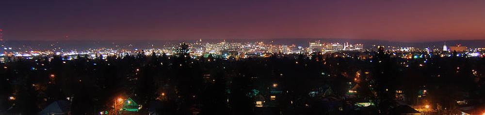 Spokane at night by Dan Quam