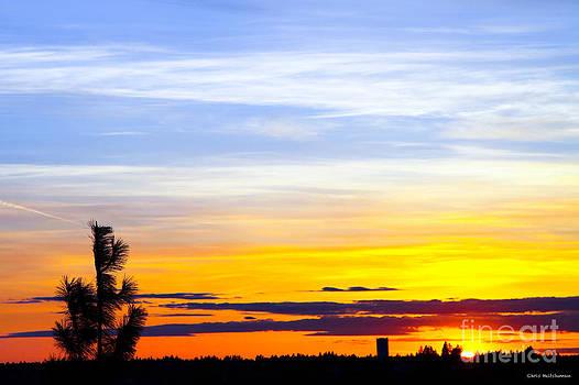 Spokane Wa Sunset by Chris Heitstuman
