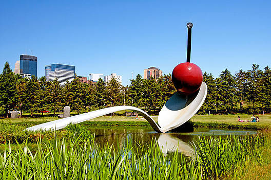 Spoonbridge and Cherry Sculpture by Lonnie Paulson