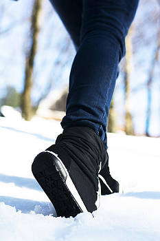 Newnow Photography By Vera Cepic - Sport shoes in woods in snow