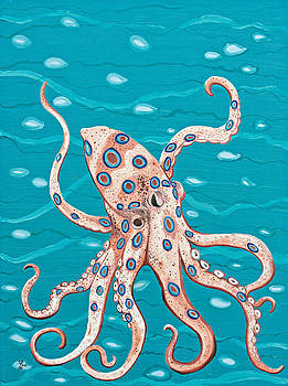 Spotted Octopus by Yabette Swank