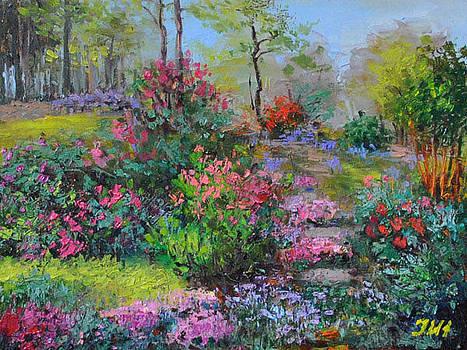 Spring at the backyard garden. by Julia Utiasheva