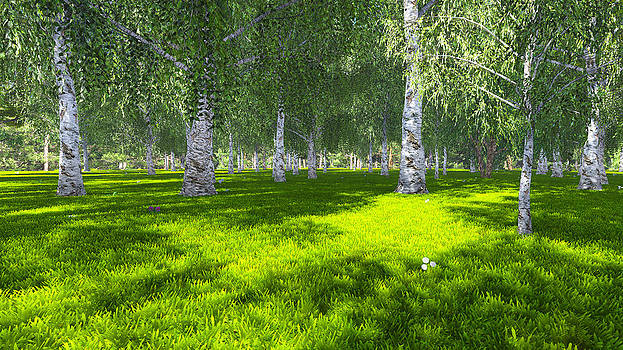 Spring birch. 3D version by Marina Likholat
