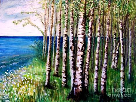 Spring Birch by Deb Stroh Larson