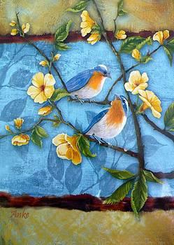 Spring Birds by Anke Wheeler