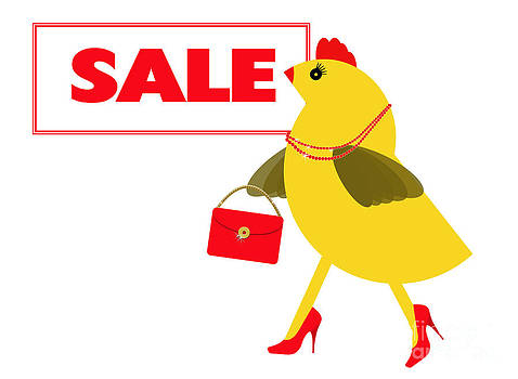 Judith  Flacke - Spring chicken goes to the sales for shopping