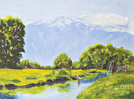 Spring Creek Angler by Terry Anderson