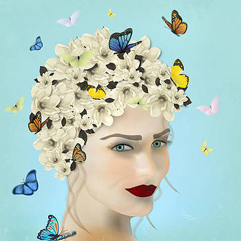 Spring Face - Limited edition 2 of 15 by Gabriela Delgado