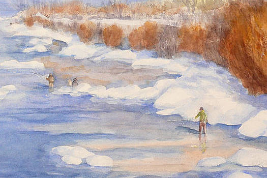 Spring Fishing by Mary Levingston