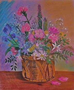 Spring Flower Basket by Sharon Leigh