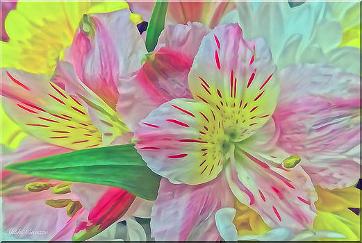 Spring Flowers Digitally Painted by Mikki Cucuzzo