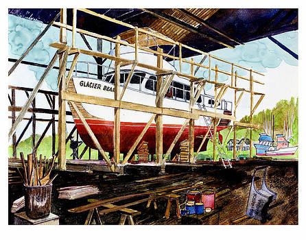 Jack Pumphrey -  Yacht Glacier Bear hauled out in Gig Harbor