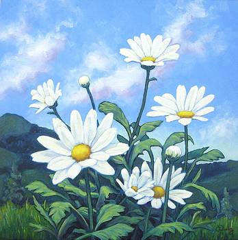 Spring Hills and White Daisies I by James Derieg