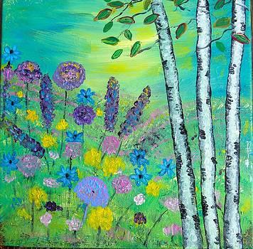 Spring Hillside by Shirley Smith