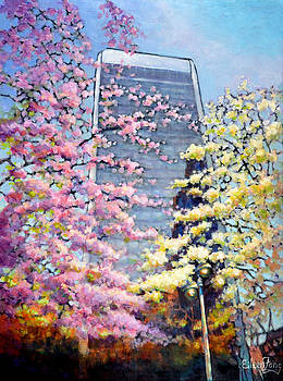 Spring in Downtown by Eileen  Fong