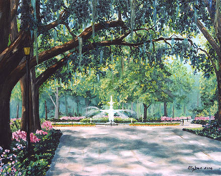 Spring In Forsythe Park by Stanton Allaben