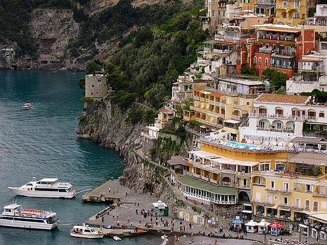 Boats of Positano by Patricia King