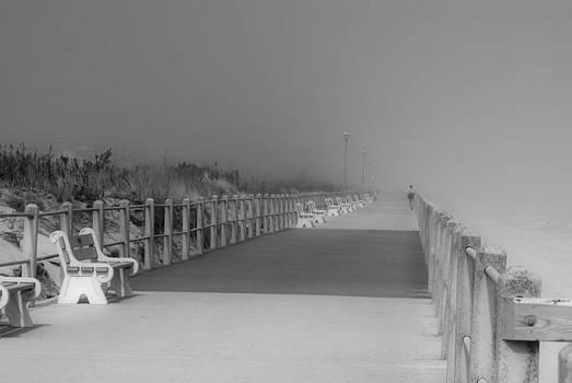 Spring Lake Boardwalk - Jersey Shore by Angie Tirado