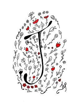 Spring Monogram J by Ioanna Papanikolaou