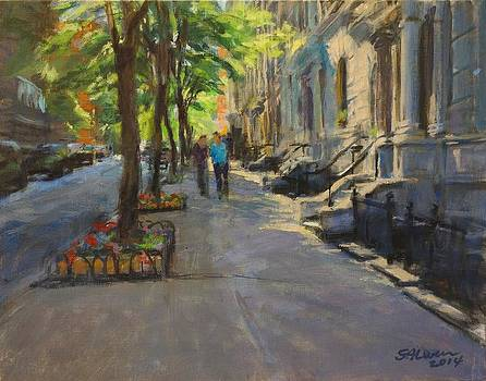 Spring Morning on West 85th Street by Peter Salwen