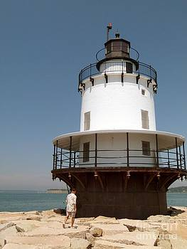 Christine Stack - Spring Point Ledge Lighthouse  in South Portland Maine