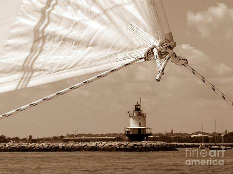 Christine Stack - Spring Point Lighthouse Through the Rigging