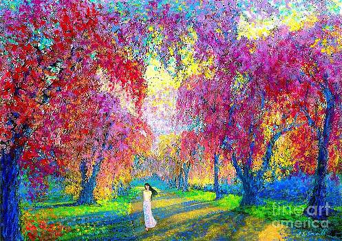 Spring Rhapsody, Happiness And Cherry Blossom Trees by Jane Small