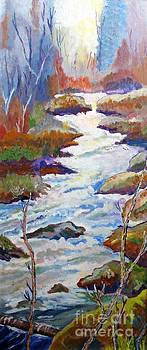 Spring River Rushing by Frank Giordano