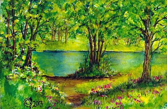 Spring Stream by Catherine Jeffrey
