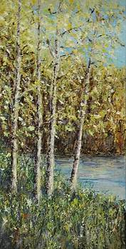 Spring Trees by Mary Henne