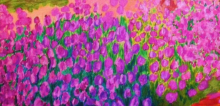 Spring tulips by Soheila Madani