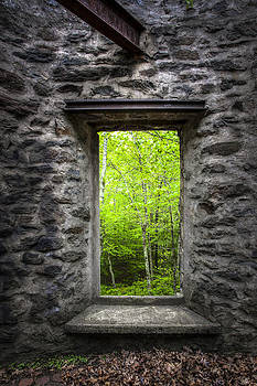 Spring within Cunningham Tower by Gary Heller