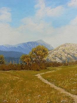 Spring.And mountains. by Yaroslav Kuvshinov