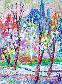 Springtime pastel trees by Siang Hua Wang