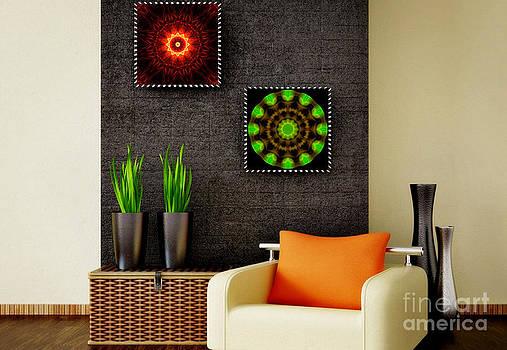 Spritual Shield - Green Serenity - Art Ideas for Interior Design by Hanza Turgul