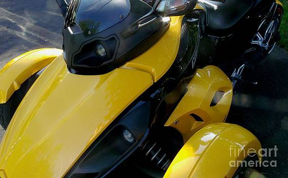 Gail Matthews - Spyder Motorcycle Side View
