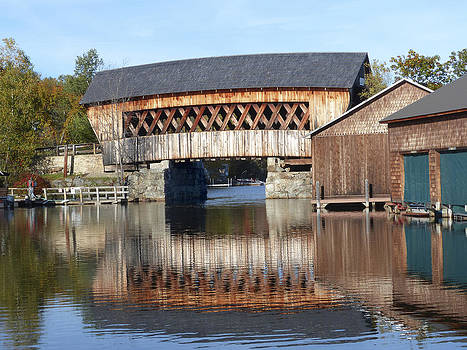 Squam covered bridge by Jim  Wallace