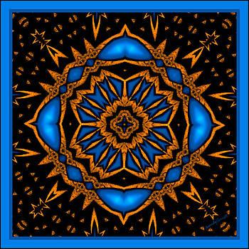 Marcela Bennett - Square Blue Rosetta