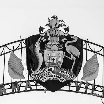 Ian Monk - Square Crest Bahamas Village Key West - Black and White