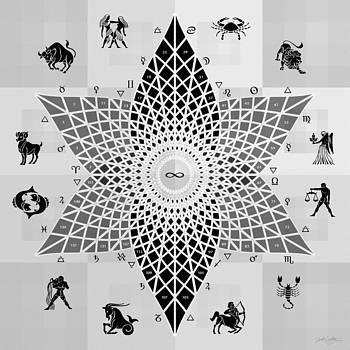 Square Fractal Polar Grid Flower by Derek Gedney