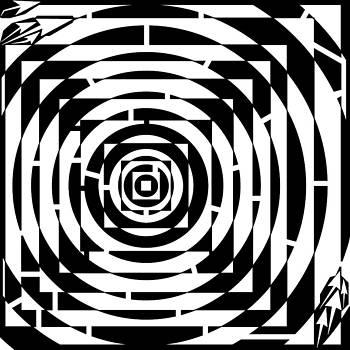 Square the Circle Maze by Yonatan Frimer Maze Artist