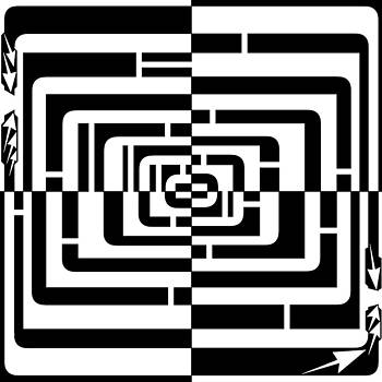 Squares and Rounded Squares Madness Maze by Yonatan Frimer Maze Artist
