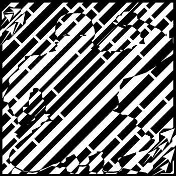 Squatting Ninja Slice Maze  by Yonatan Frimer Maze Artist